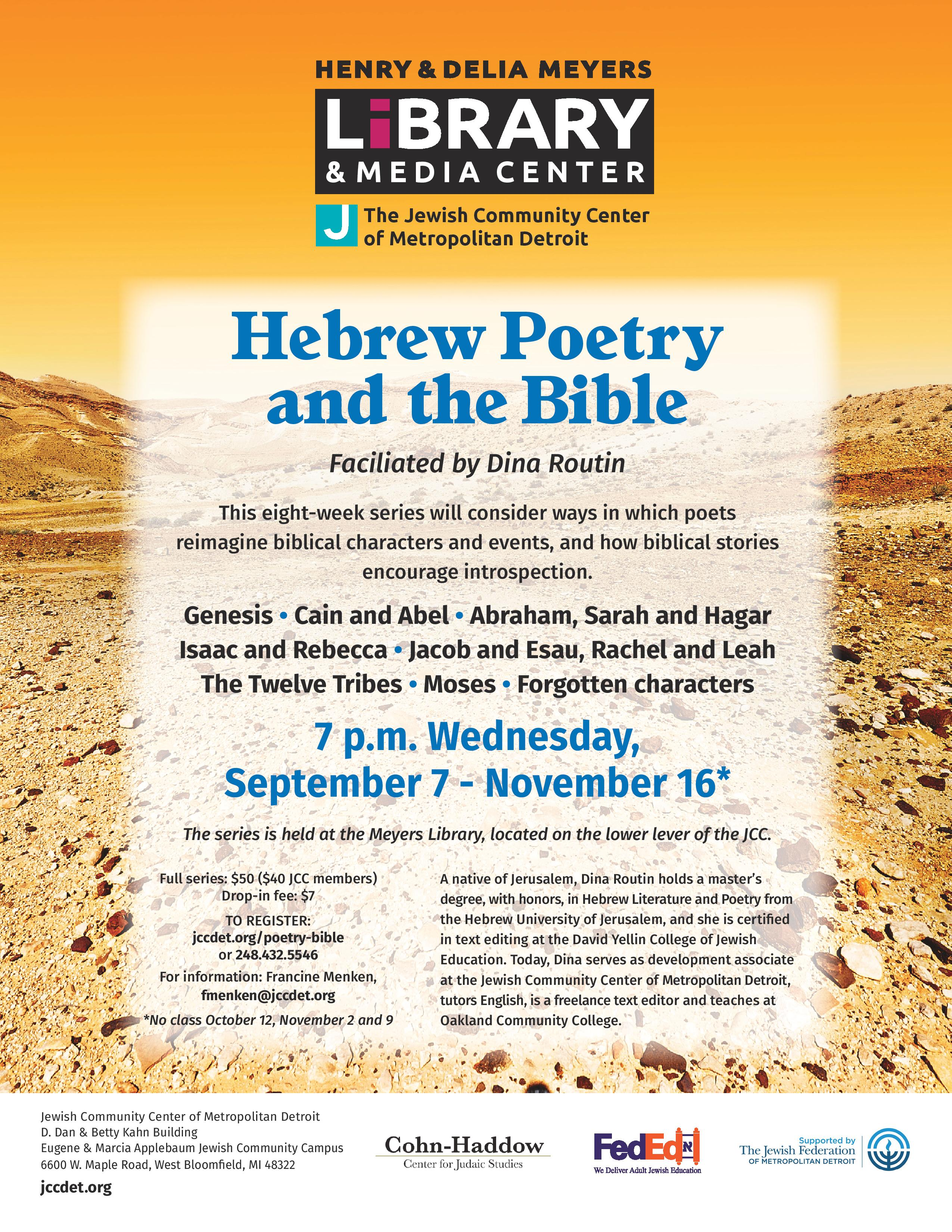 Hebrew Poetry and the Bible